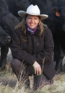 Mary Beth Jenkins and Laramie Cattle